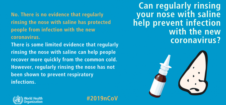 rinsing your nose with saline WON'T prevent COVID-19
