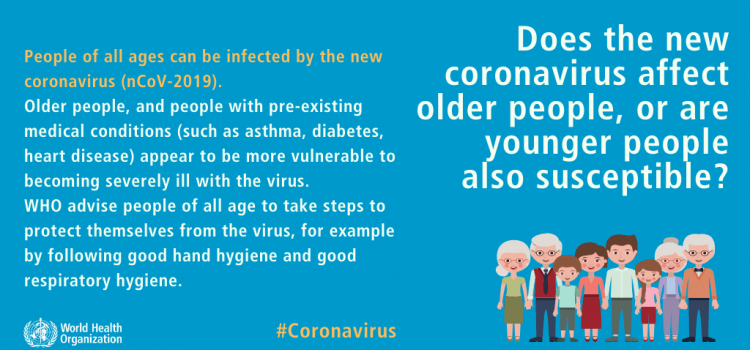 People of all ages can be infected with COVID-19
